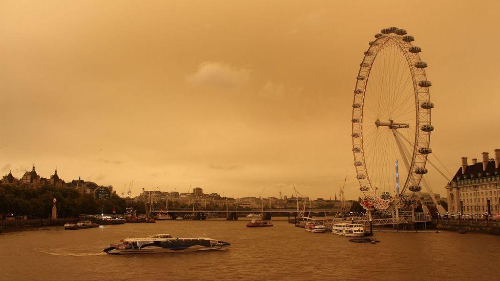 #RedSun: la calima del Sáhara que ha teñido de naranja el cielo de Londres