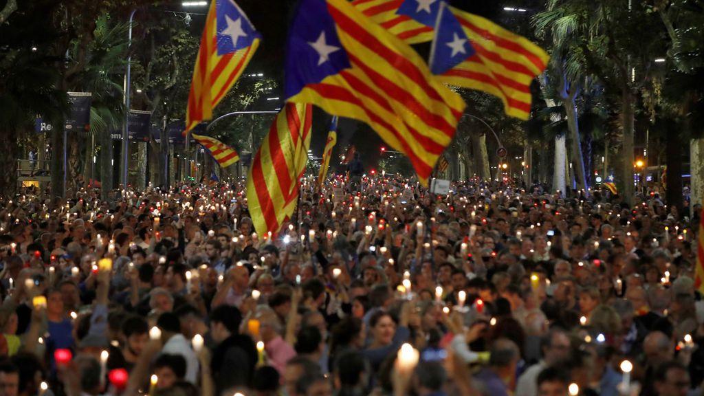 El independentismo vuelve a las calles arropado por las autoridades del Govern