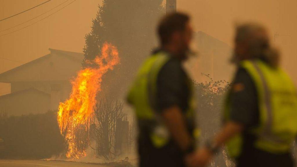 La Guardia Civil encuentra el primer artefacto incendiario en Galicia