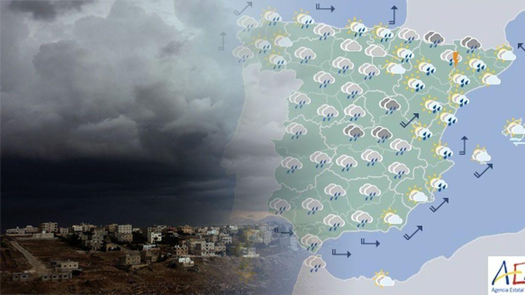 Todo el país bajo el paraguas (literalmente): 17 provincias, en riesgo amarillo y naranja lluvias y tormentas