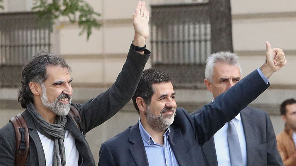 Sánchez y Cuixart cumplen sus primeras 24 horas en celdas separadas de Soto del Real