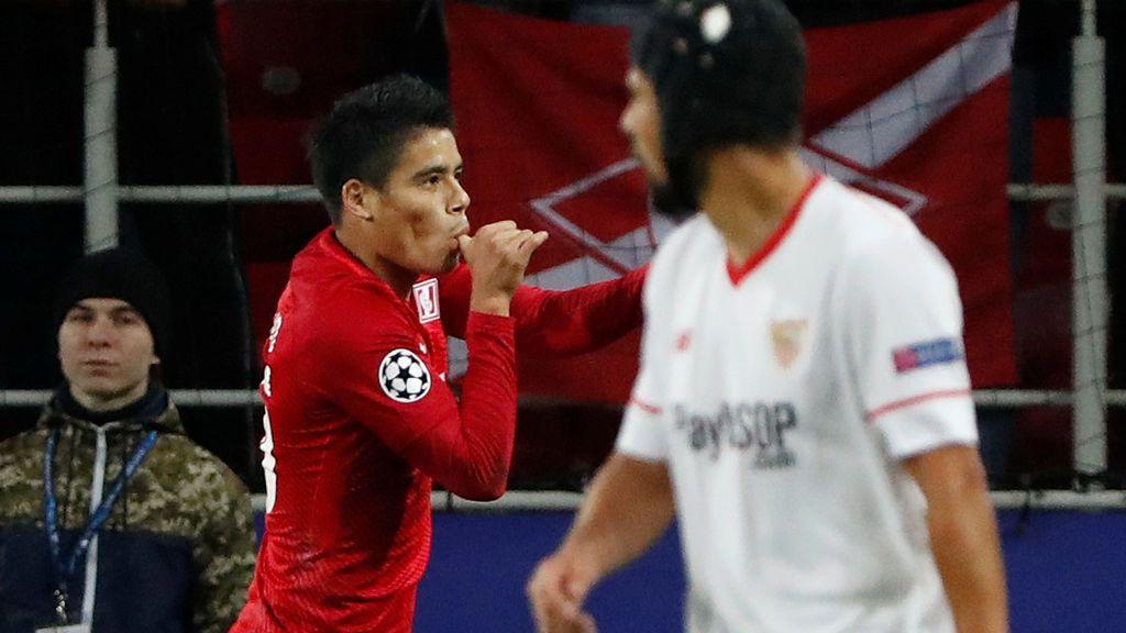 El Sevilla naufraga en Moscú y cae goleado por el Spartak (5-1)