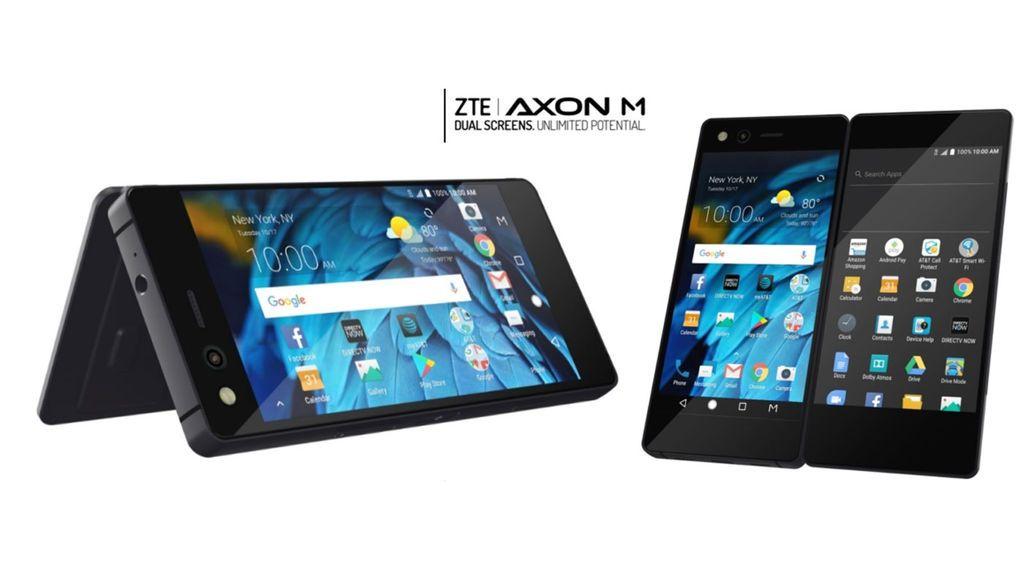 ZTE presenta Axon M, un 'smartphone' con doble pantalla plegable