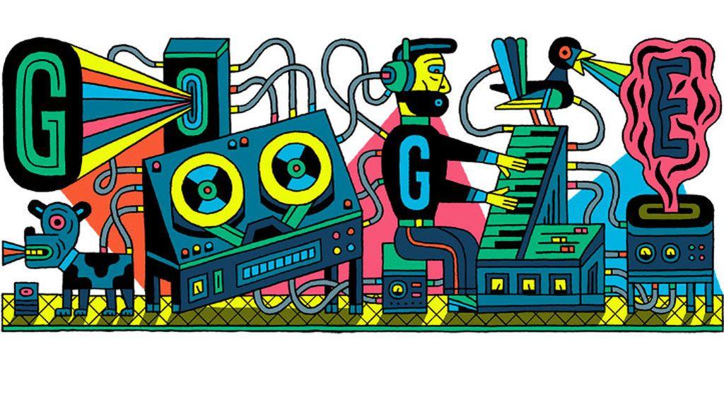 Google celebra con un doodle el aniversario 66 del primer estudio de música electrónica