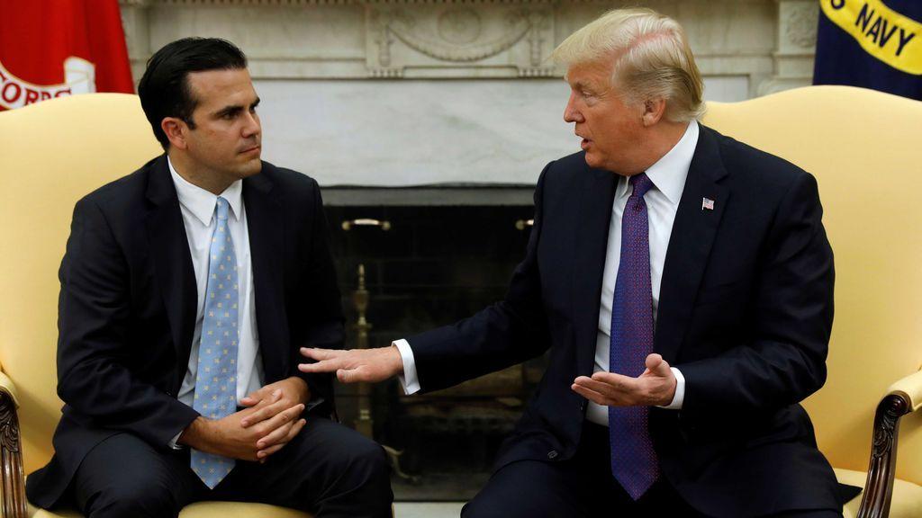 """Trump puntúa con """"un 10"""" su respuesta a la crisis desatada en Puerto Rico por el huracán 'María'"""