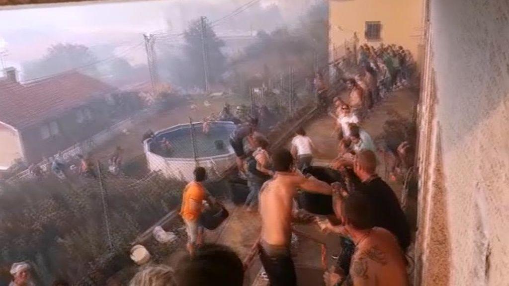 La solidaridad apagó las llamas en Baiona