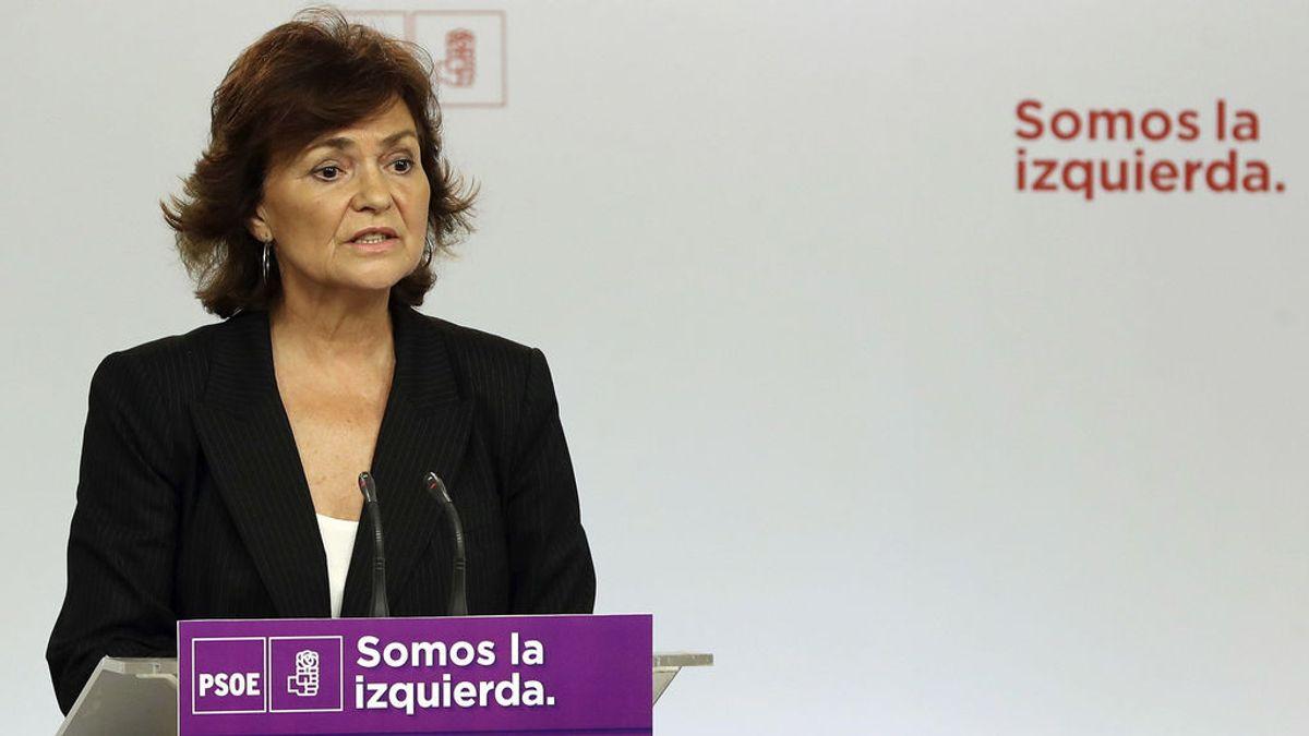 Carmen Calvo confirma un pacto con el Gobierno para convocar autonómicas en enero en Cataluña