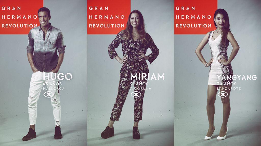 Hugo, Miriam y Yangyang, nominados en la quinta gala del 'reality' de Telecinco 'Gran hermano revolution'