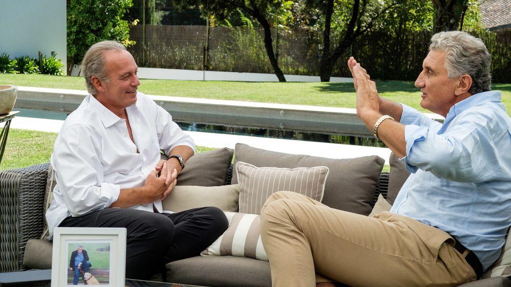 El exjugador de baloncesto Fernando Romay, invitado de Bertín Osborne al programa de Telecinco 'Mi casa es la tuya'