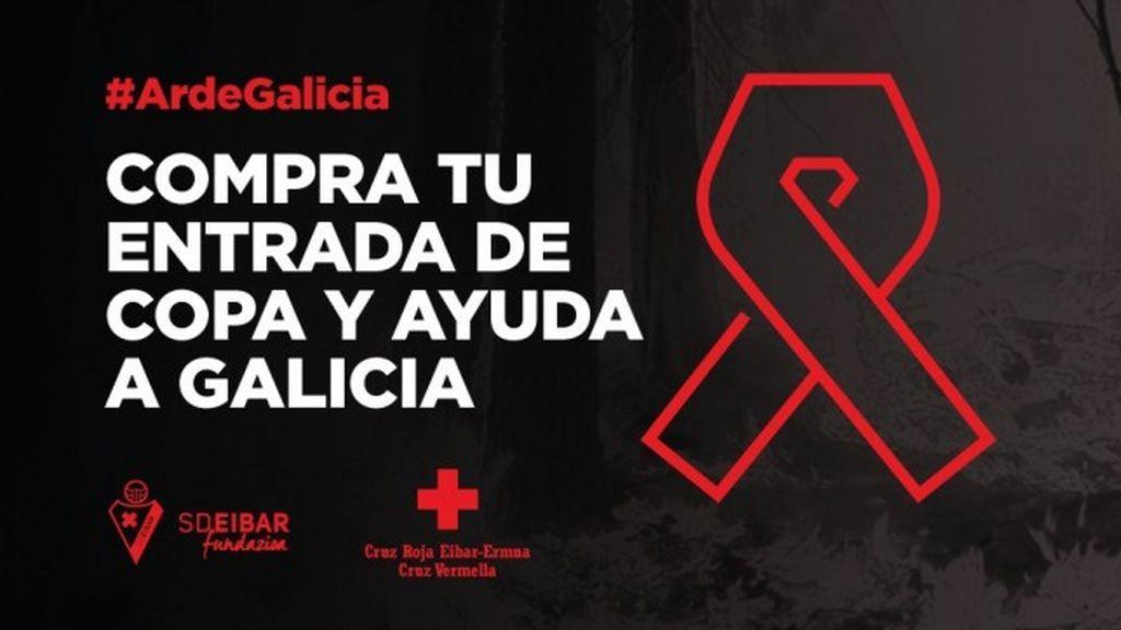 El Eibar donará la taquilla del choque de Copa ante el Celta a los afectados por los incendios de Galicia