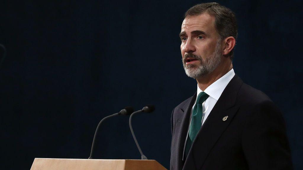 El rey Felipe durante su intervención en la ceremonia de entrega de los Premios Princesa de Asturias 2017
