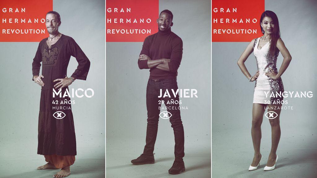 Maico, Javier y Yangyang, nominados de la sexta gala de 'Gran hermano revolution' en Telecinco