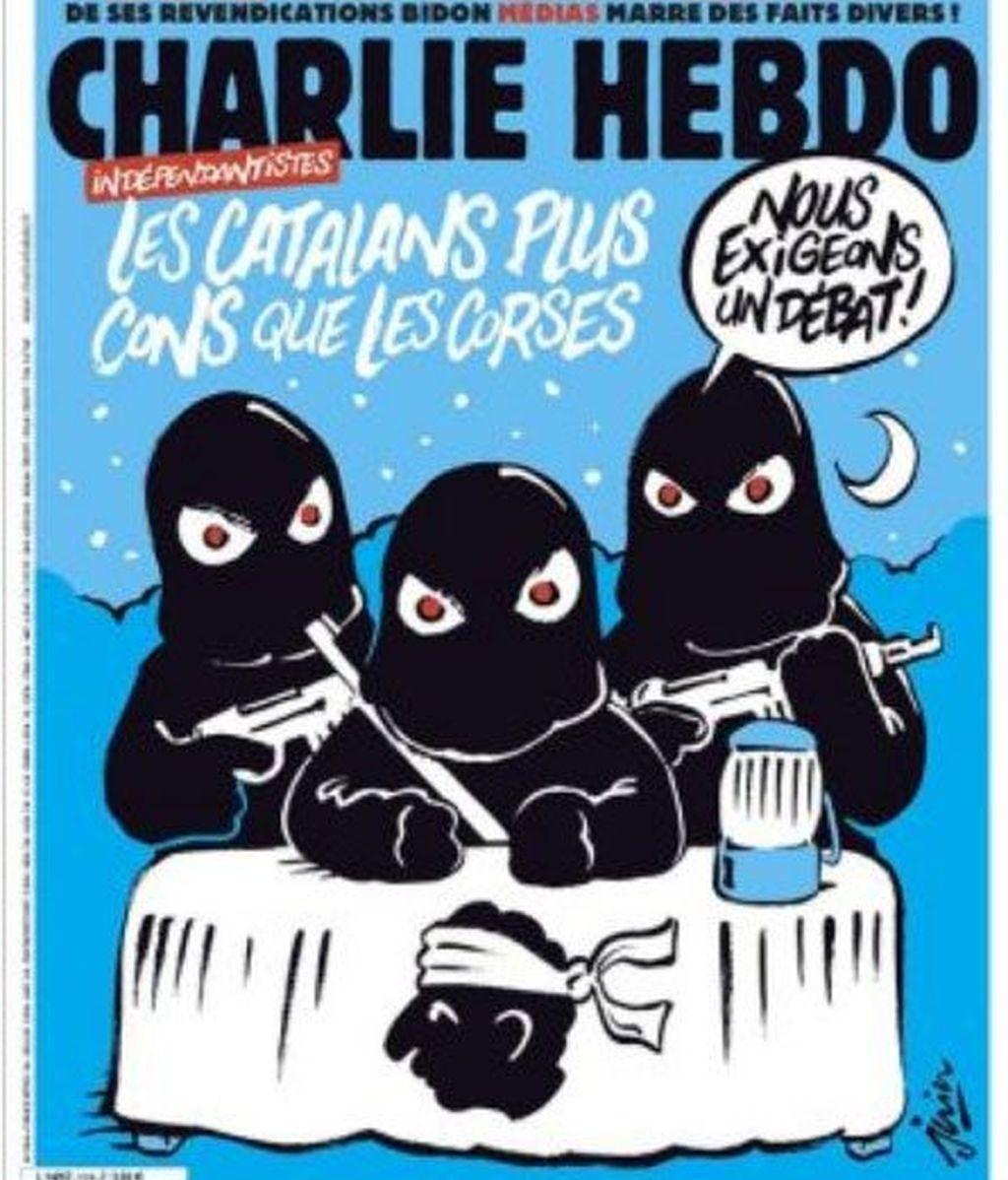Portada del semanario francés 'Charlie Hebdo' sobre la situación de Cataluña tras el 1-O