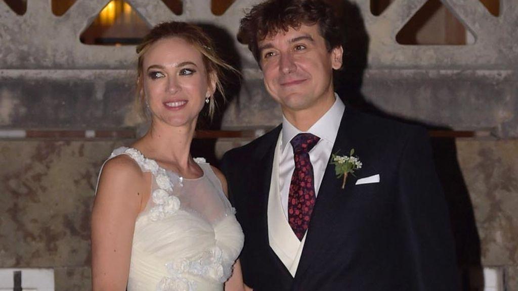 Marta Hazas y Javier Veiga en su boda