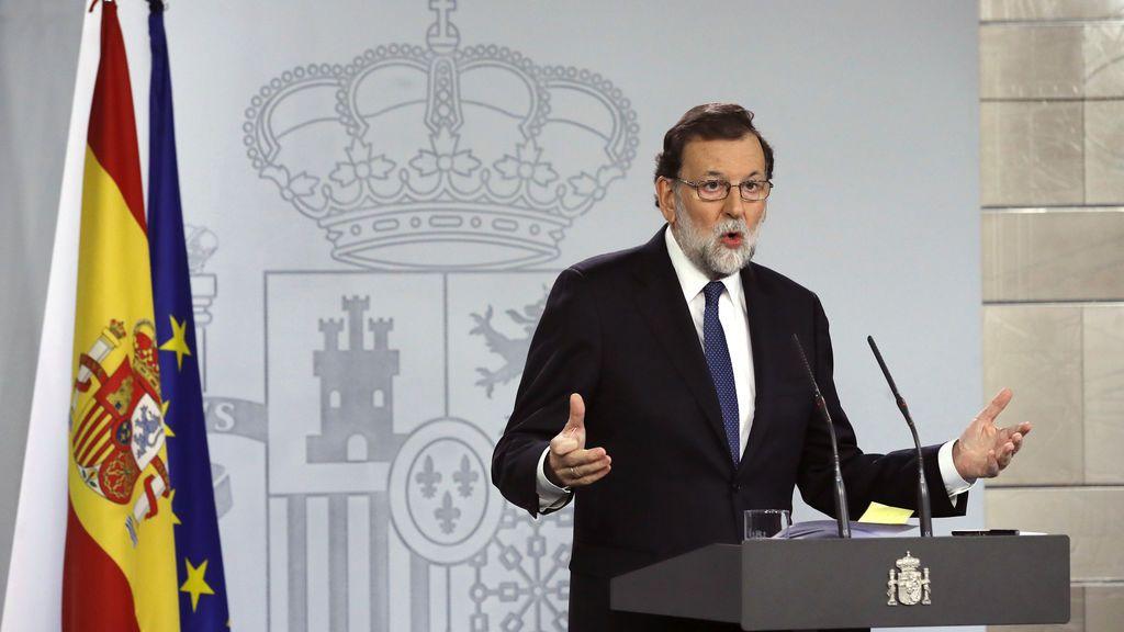 Rajoy pedirá el cese del Govern y la convocatoria de elecciones en Cataluña