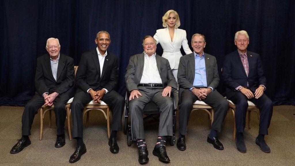 Obama, Bush, Clinton... ¡Y Lady Gaga! La reunión que jamás imaginaste