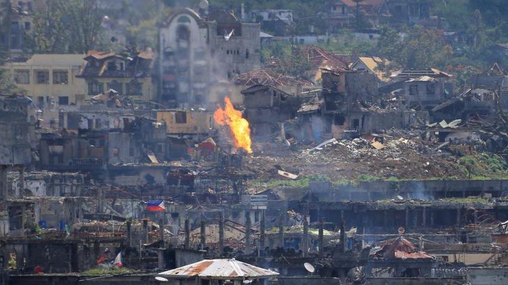La guerra continúa en la ciudad de Marawi
