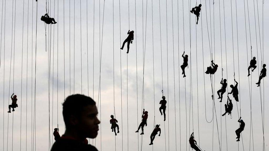 Un intento por establecer un nuevo récord de 'salto de cuerda'
