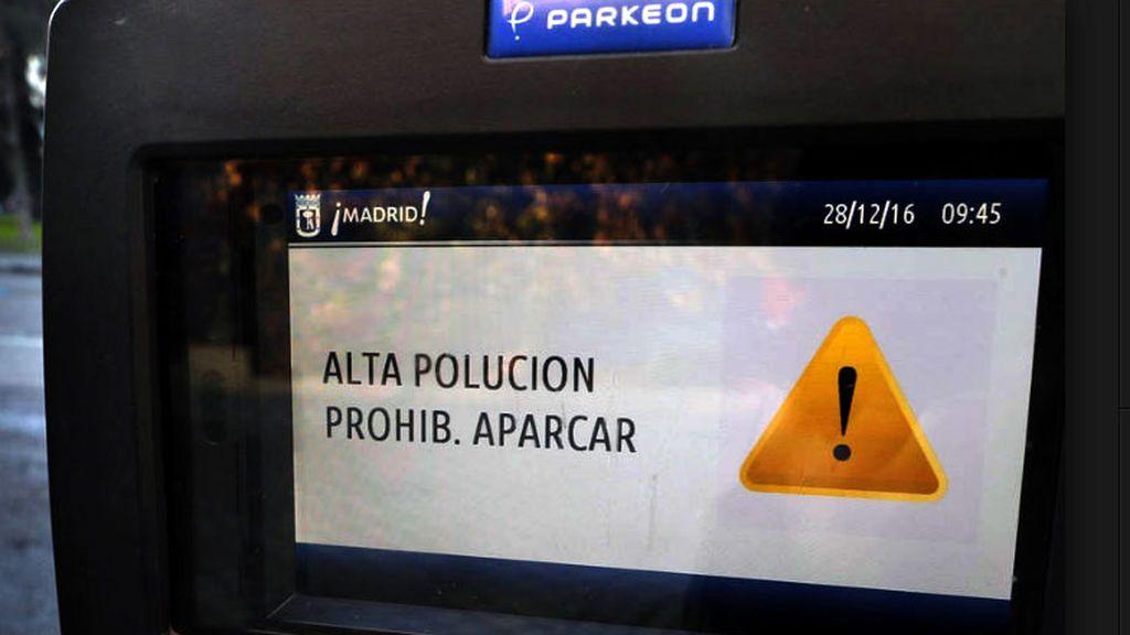 Escenario 2  en Madrid por contaminación:  Los no residentes no podrán aparcar este miércoles