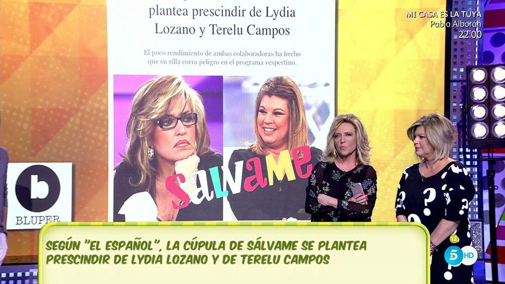 La Cúpula de Sálvame no niega la posibilidad de despedir a Lydia Lozano y a Terelu