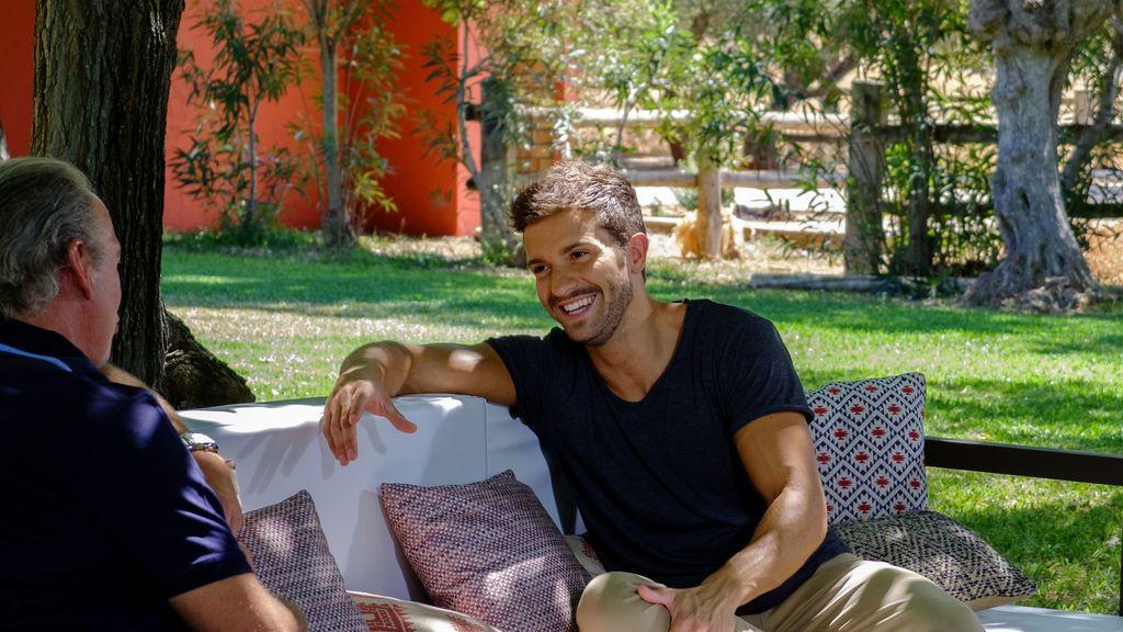 Pablo Alborán, invitado de Bertín Osborne en el programa de Telecinco 'Mi casa es la tuya'