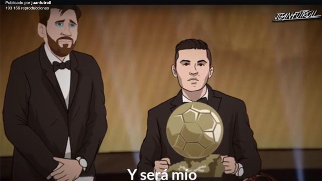 El videoclip animado de Cristiano burlándose de Messi que lo está petando