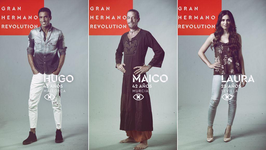Hugo, Maico y Laura, nominados en la séptima gala de 'Gran hermano revolution'