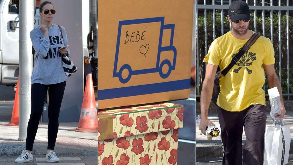 'Habitación bebé': Eva González y Cayetano Rivera inmersos en su mudanza con caja para su futuro hijo incluida