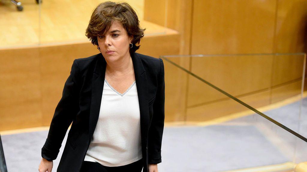 Santamaría abandona el Senado a mitad de la comisión del 155 al no encontrarse bien