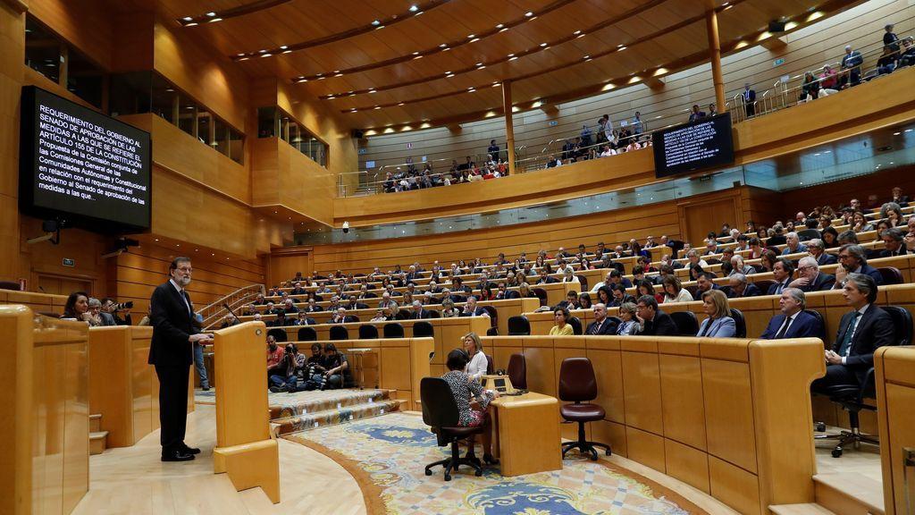 """Rajoy: """"No hay alternativa al 155, estamos ante una violación palmaria de la democracia"""""""