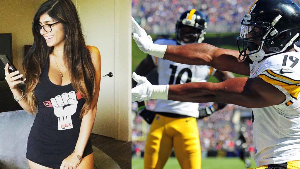 Mia Khalifa le tira los trastos a un jugador de la NFL y se lleva un zasca brutal