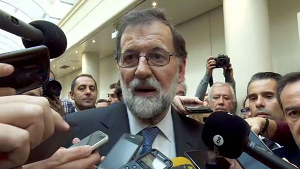 """Rajoy: """"El Estado reaccionará y estaremos a la altura de las circunstancias"""""""