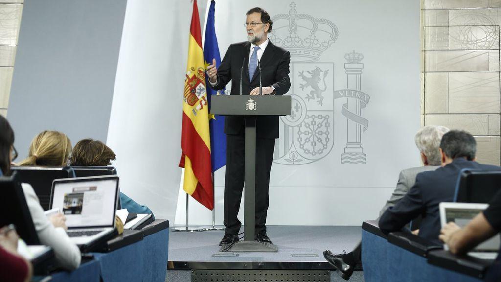 La firme respuesta de Rajoy a la declaración de independencia del Parlament