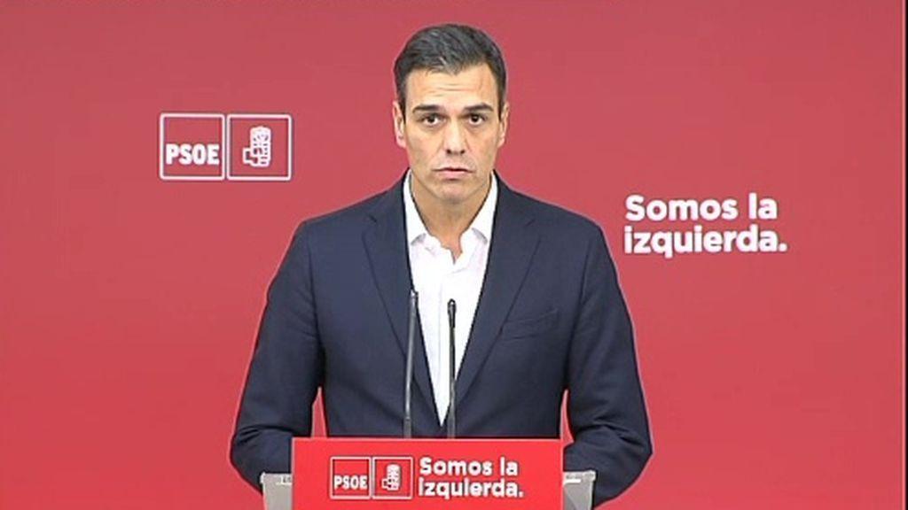 """El PSOE """"rechaza"""" la declaración unilateral de independencia de Cataluña"""