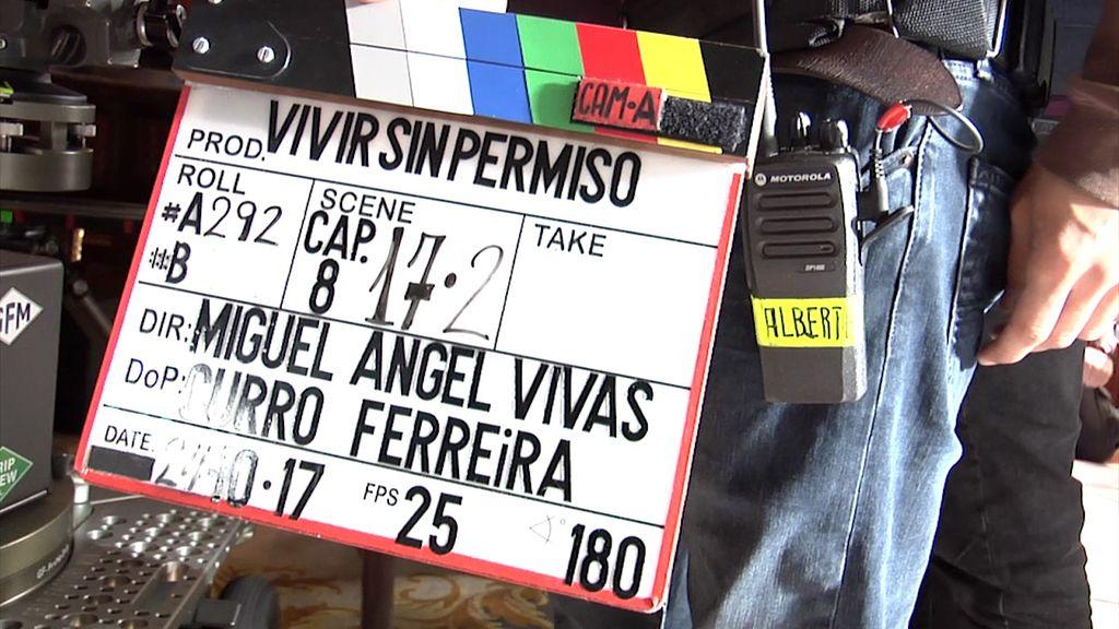 ¡Nos colamos en el rodaje de 'Vivir sin permiso'!