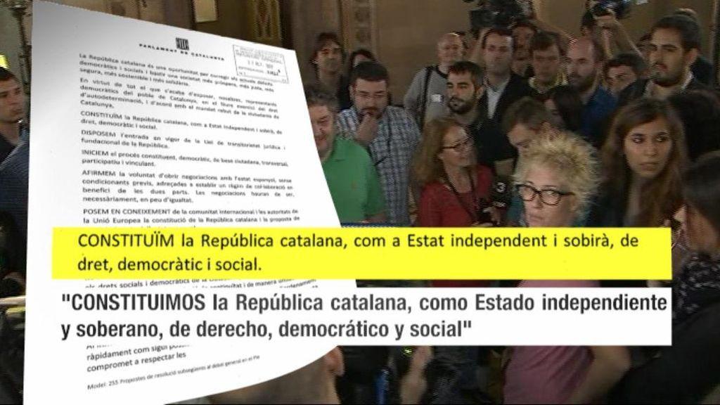 Así ha llegado la declaración de independencia al Parlament