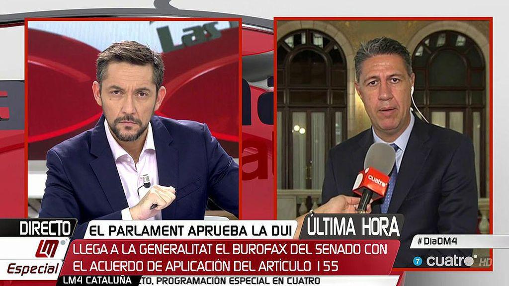 """García Albiol: """"Me consta que no va a entrar la policía a desalojar a nadie"""""""