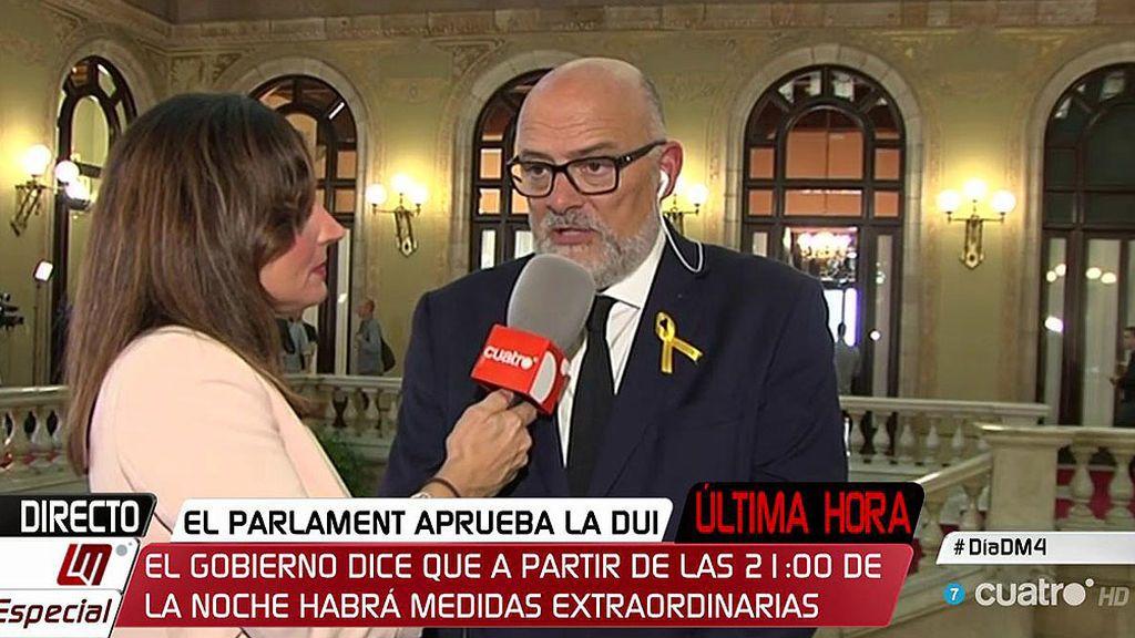"""Lluís Corominas, presidente Grupo JxSi: """"El futuro de Cataluña lo decidirán los catalanes y no un Consejo de Ministros"""""""