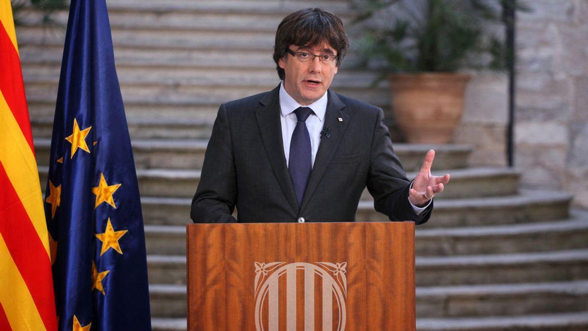 """Puigdemont : """"Seguiremos trabajando para construir un país libre"""""""