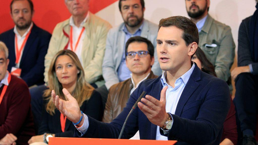 El presidente de Ciudadanos, Albert Rivera, durante su intervención en el Consejo General de Ciudadanos en el que se ha abordado la situación en Cataluña.