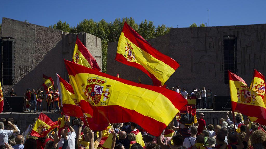 manifestación en defensa de la unidad de España en Colón