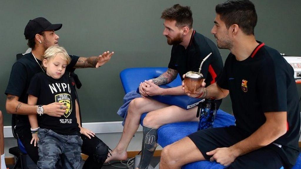 ¡Vuelve la MSN! Neymar recuerda sus historias con Messi y Suárez en su reencuentro en Barcelona