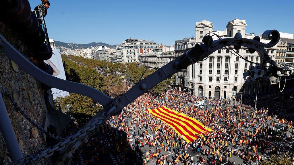 La manifestación por la unidad en Barcelona, en imágenes