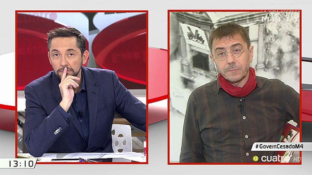 """Juan Carlos Monedero: """"Creo que Dante Fachin está fuera de Podemos y debiera irse"""""""