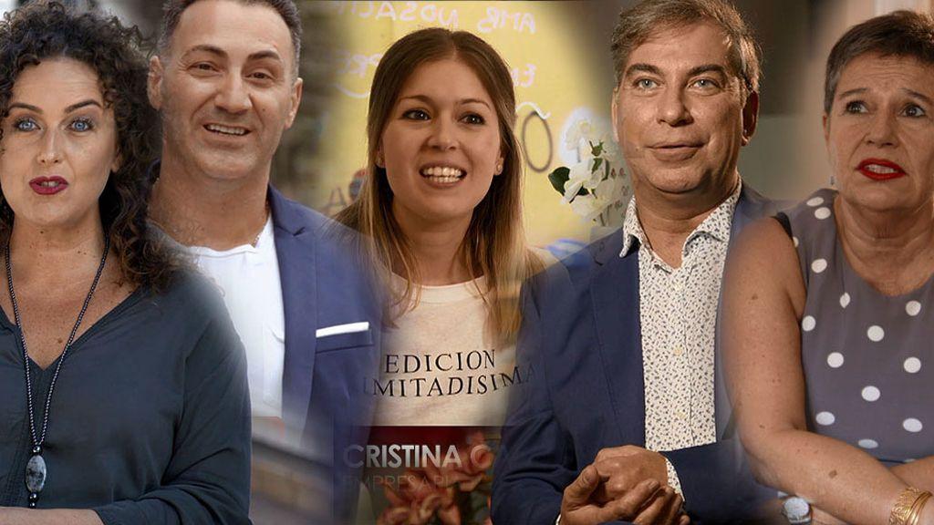 Begoña, Ricardo, Cristina, Frank y Mª Ángeles, cinco comensales barceloneses de armas tomar