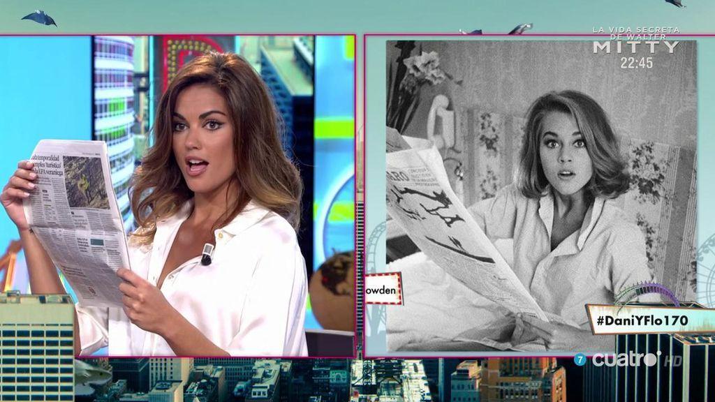 ¡Qué fuerte! El sorprendente parecido de Lara Álvarez y Jane Fonda