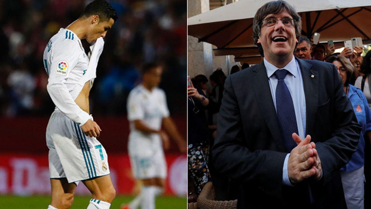 Puigdemont utiliza la victoria del Girona ante el Real Madrid como símbolo del independentismo en Cataluña