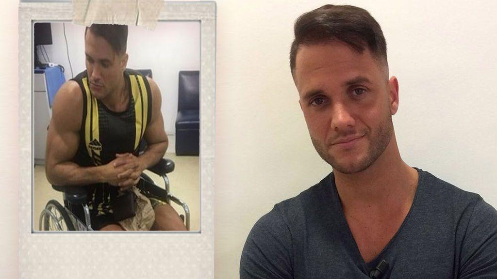Fabio Agostini, de 'Mujeres y Hombres', sufre un accidente y se rompe las espinillas
