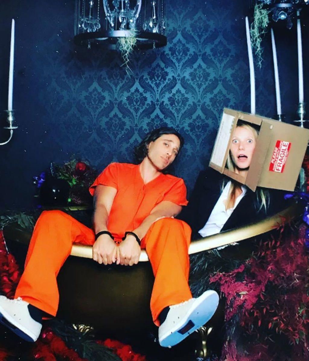 Gwyneth Paltrow, homenaje a 'Seven' dentro de una caja de cartón