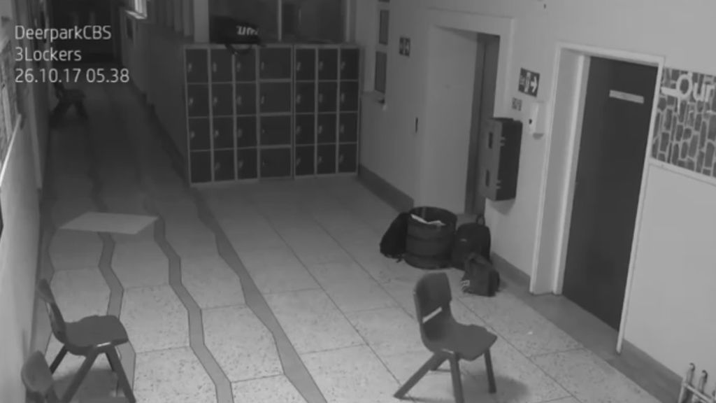 Las cámaras de seguridad de un colegio graban una supuesta presencia paranormal